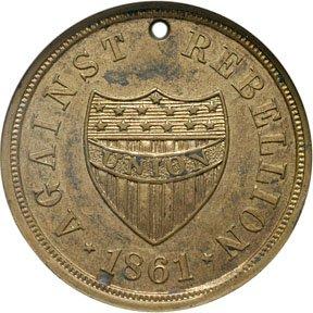 2142: 1862 New York Civil War Regimental ID Dog Tag