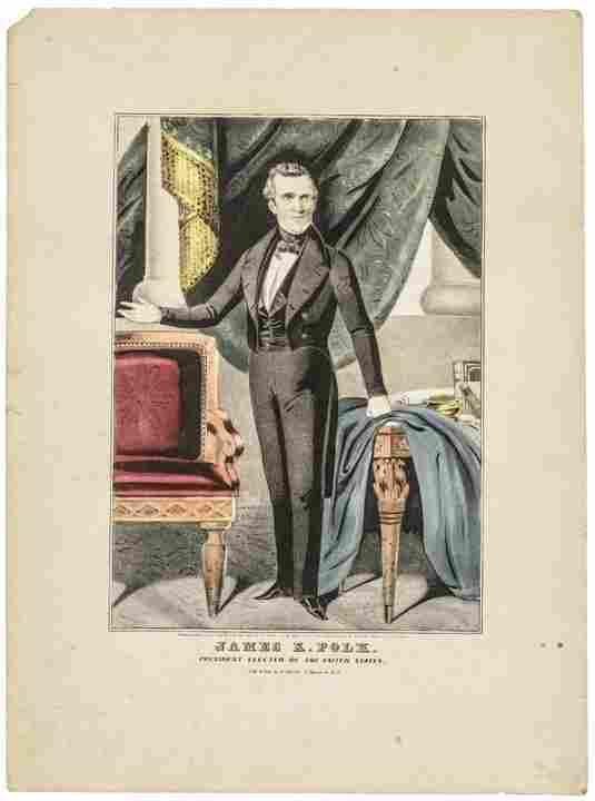 1844 James K. Polk, President Currier Lithograph