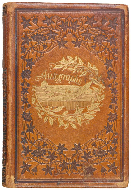 6: AUTOGRAPH ALBUM: MATHEW BRADY, R.T. LINCOLN, etc.