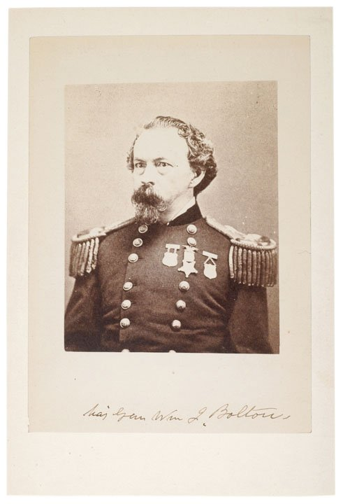 10: Civil War General, WILLIAM J. BOLTON, CDV Signed