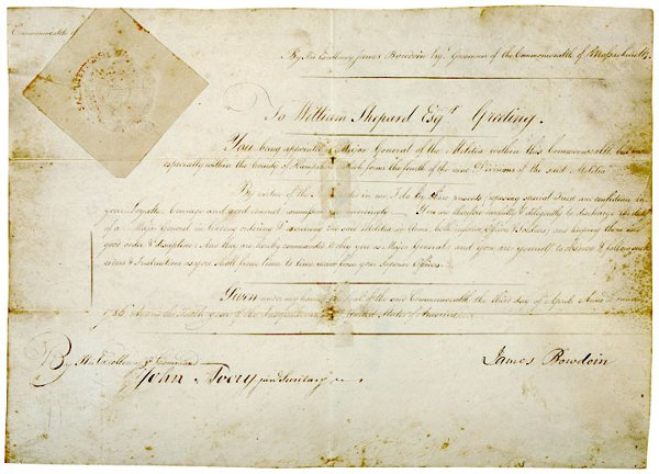 13: JAMES BOWDOIN, 1786 Document Signed