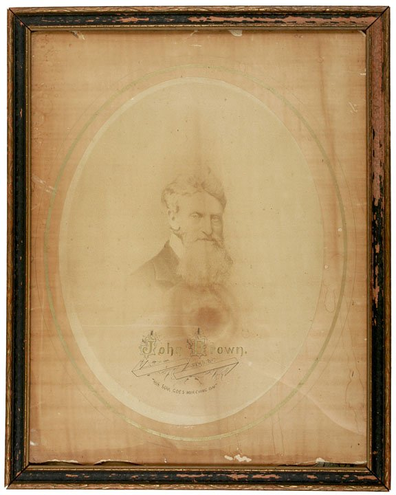 15: Abolitionist JOHN BROWN, Large Sepia-toned Photo