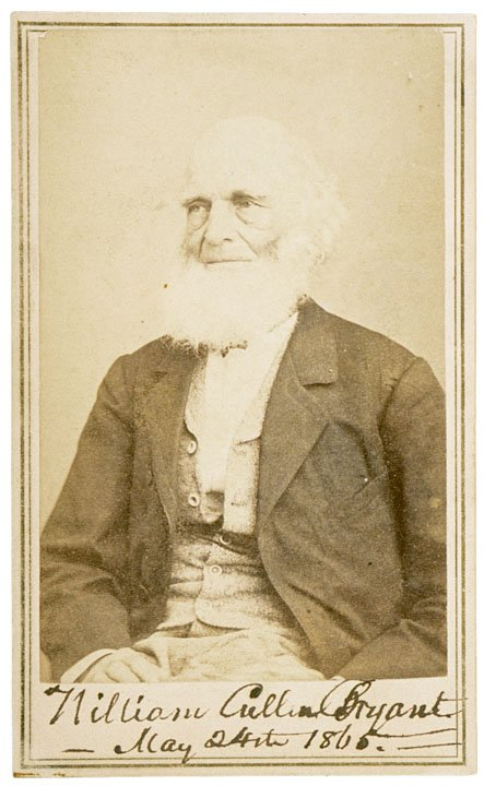 16: WILLIAM CULLEN BRYANT, Signed CDV, 1865