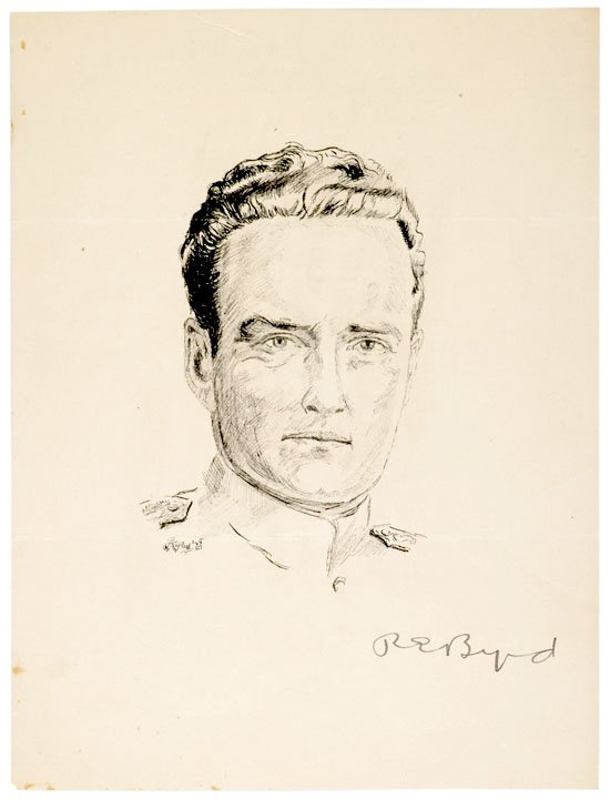 18: RICHARD E. BYRD, Printed Portrait Signed, c. 1935