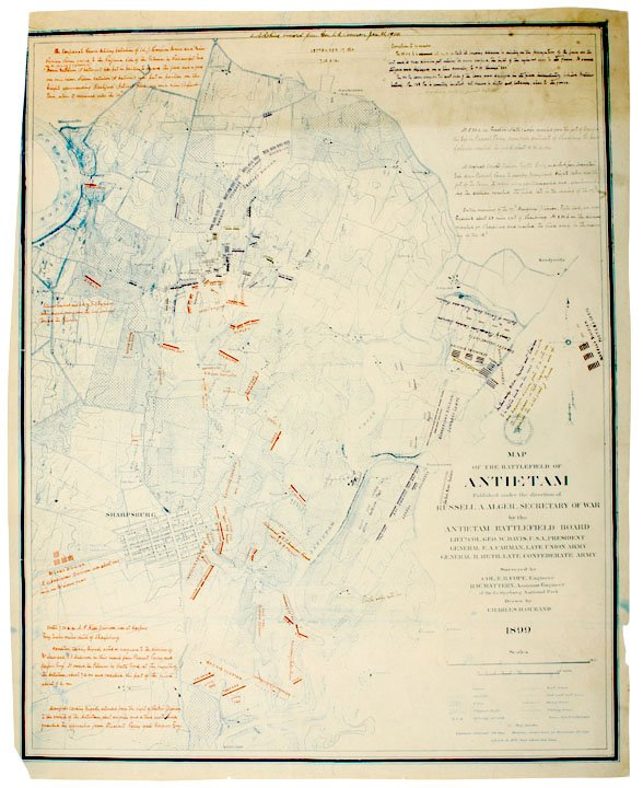 20: Map of the Civil War Battlefield of Antietam1899