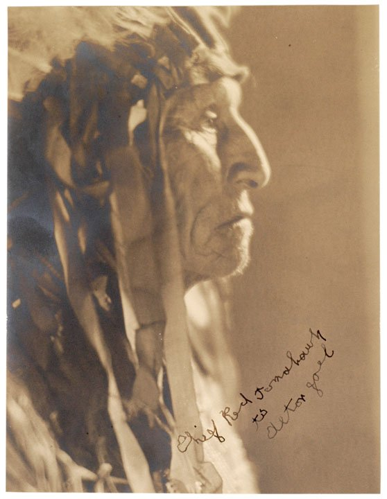 22: CHIEF RED TOMAHAWK, 1929 Signed Photo