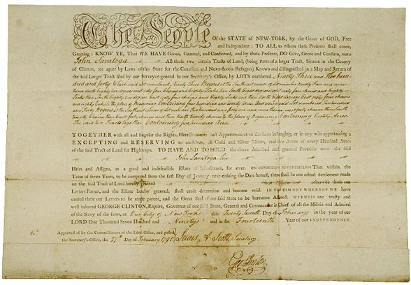 24: GEORGE CLINTON, Signed Document 1790