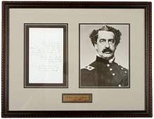 37: ABNER DOUBLEDAY, Handwritten Letter and Photo