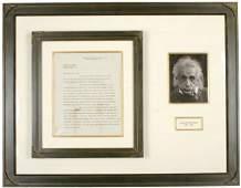 41: ALBERT EINSTEIN, Signed Letter Dated 1938