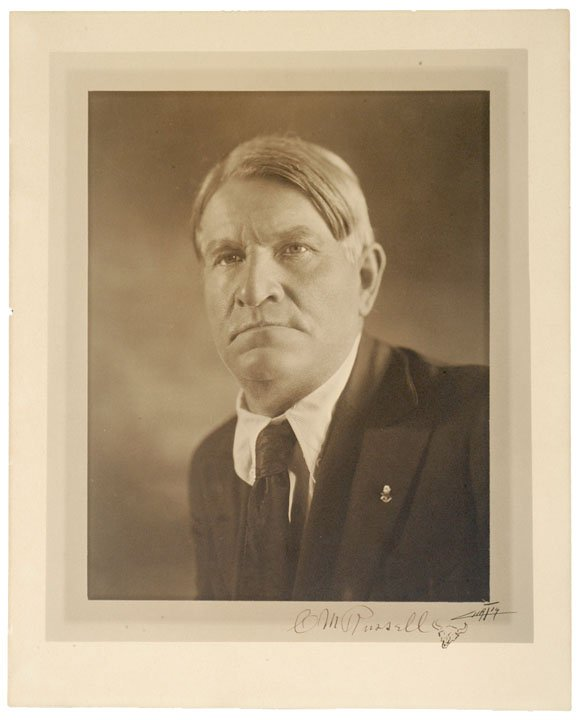 109: Painter CHARLES M. RUSSELL, Signed Photo