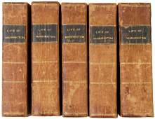 240 Five Volume Life of George Washington c 1804
