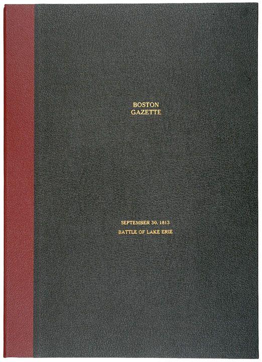 1813, BOSTON GAZETTE, Lake Erie Naval Battle