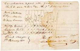 266: 1815 Manuscript Document - Battle of New Orleans