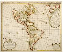 621 1739 Engraving of Map of America