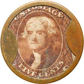 867: Encased Postage Stamps, 5¢, F. BUHL & CO.