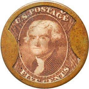 872: Encased Postage Stamps, 5¢, JOHN SHILLITO CO.