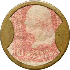 860A: Encased Postage Stamps, 3¢, AYERS SARSAPARILLA