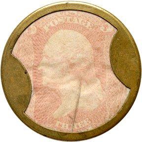 861A: Encased Postage Stamps, AYERS SARSAPARILLA, 3¢