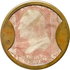 862A: Encased Postage Stamps, BROWNS BRONCHIAL, 1¢