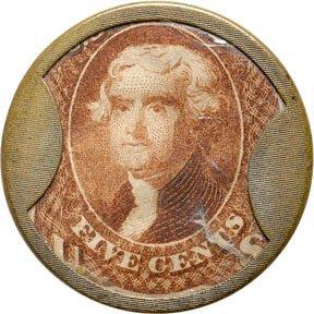 871A: Encased Postage Stamps, 5¢, HUNT & NASH