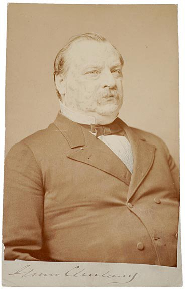 """2009: GROVER CLEVELAND Photograph Signed, 1885"""""""