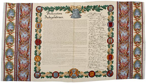 2014: DECLARATION OF INDEPENDENCE Printed Image, Cotton