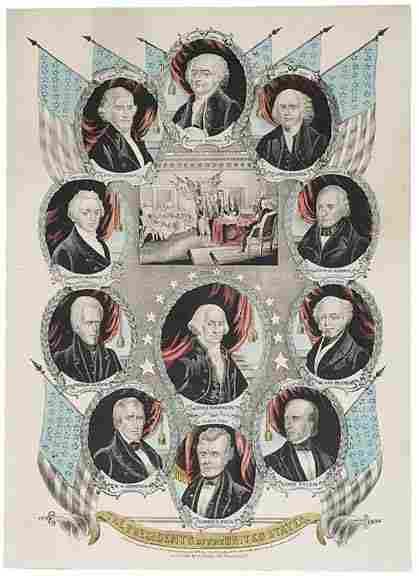 "1846, James K. Polk Inaugural Print:"""