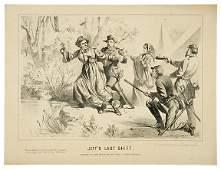 1865 Civil War Lithograph JEFFS LAST SHIFT