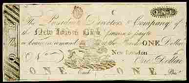 2663 Obsolete Currency New London CT 5