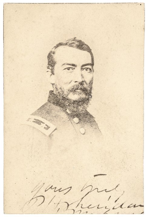 Signed CDV Photograph of PHILIP HENRY SHERIDAN