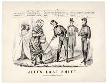 1865 Currier  Ives Print of  Jeffs Last Shift