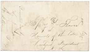 1865 Abraham Lincoln Memorial Sprig  Flower