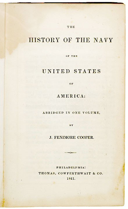 4: American Naval History,  Signed Book, 1841