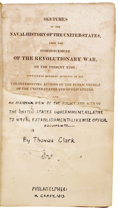 5: American Naval History, First Edition Book, 1813