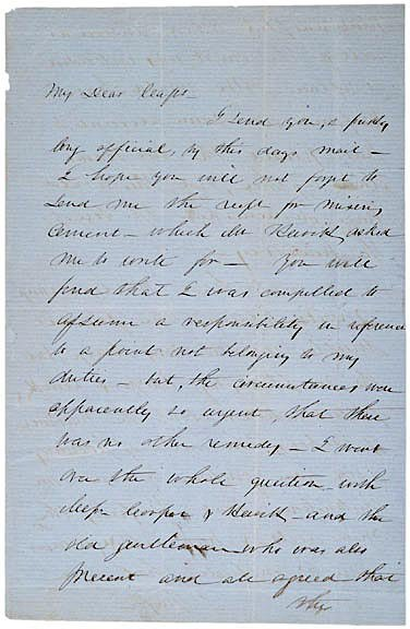 7: ROBERT ANDERSON, Signed Letter (1856)