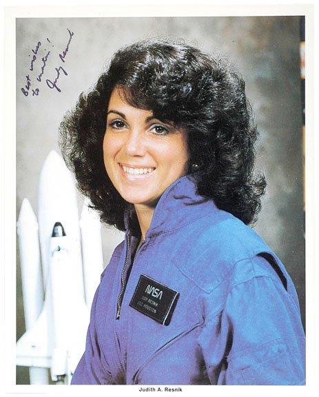 13: Astronaut JUDITH RESNIK, Signed Color Print Photo
