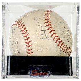 17: LOU GEHRIG + the 1937 Yankees, Signed Baseball