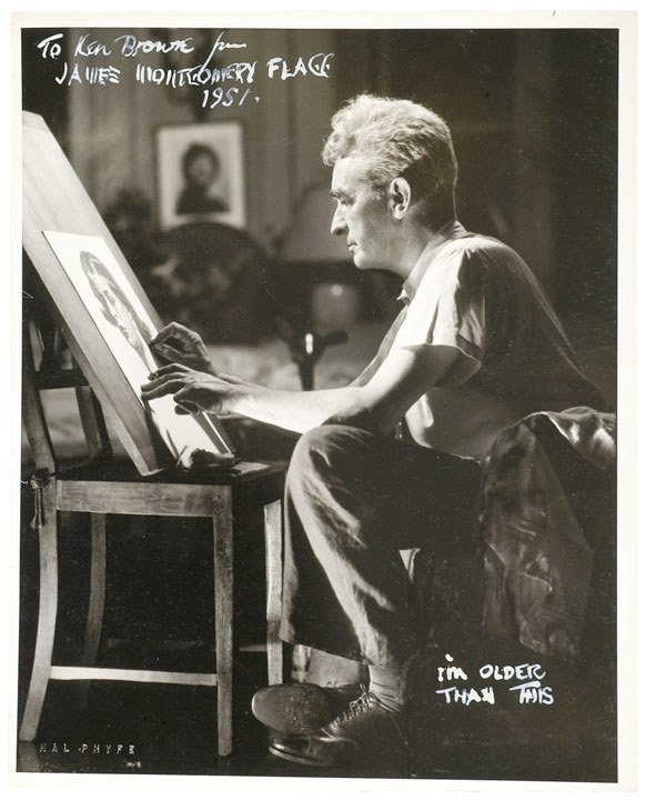 38: JAMES MONTGOMERY FLAGG, Signed + Inscribed Photo