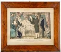 235: DEATH OF WASHINGTON, c. 1840 Lithograph, Currier