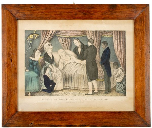 DEATH OF WASHINGTON, c. 1840 Lithograph, Currier