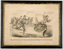 323 1865 Comic Lithograph of Jefferson Davis