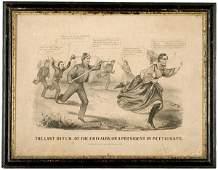 323 1865 Comic Lithograph of Jefferson Davis