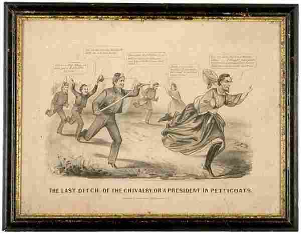 323: 1865 Comic Lithograph of Jefferson Davis