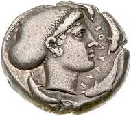 960: Greece, Syracuse, Silver Tetradrachm, c. 425 B.C.