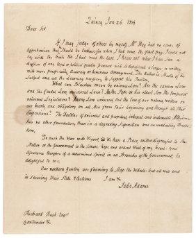 January 26, 1814, John Adams Als To Richard Rush