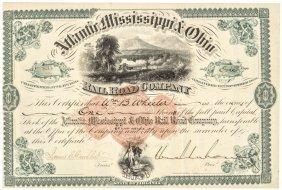 1875 Csa General William Mahone Signed Stock