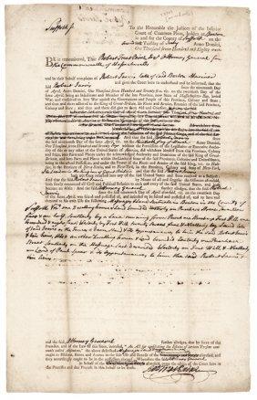 1781 Robert Treat Paine Declaration Signer