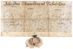 1744 (john Penn, Thomas Penn And Richard Penn)
