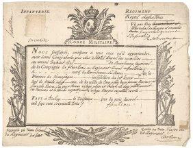 1763 Jean-baptiste Comte De Rochambeau Autograph