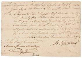 1778 Joseph Spencer Continental Army Maj General